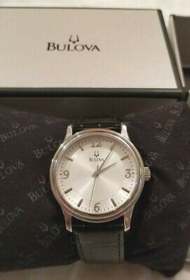 Mens Bulova Watch, NOS, With Box/Papers