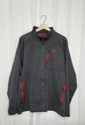 Men's THE NORTH FACE Gray/ Red Full Zip Jacket size 2XL