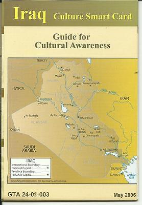 Original Iraq Culture Smart Card, May 2006, GTA 24-01-003, US ARMY