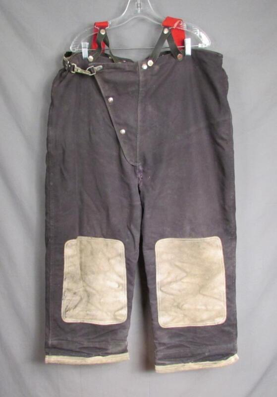 Vintage Globe Mfg. Firefighters Bunker Turnout Gear Pants Suspenders Fireman 40
