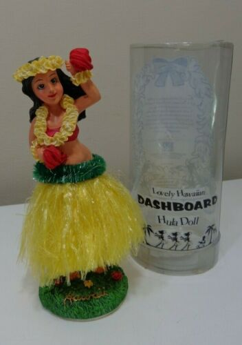 Lovely Hawaiian Dashboard Hula Doll💗Hula Girl Sweet Kealoha💗Vintage