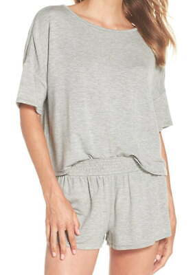 Honeydew French Terry Pajamas Medium Grey Shirt + Shorts Dropped Shoulder COMFY