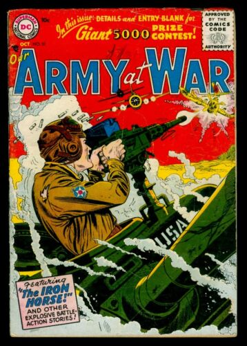 DC Comics Our ARMY At WAR #51 The Iron Horse VG+ 4.5
