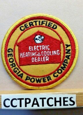 Georgia Power Company Certified Electric Heating   Cooling Dealer Patch