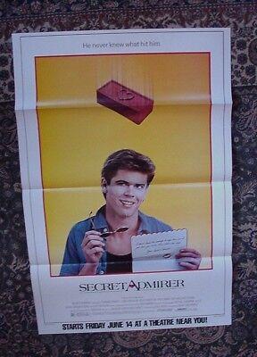 Secret Admirer Movie Poster 1985 Subway 29 x 45 C. Thomas Howell Lori Loughlin