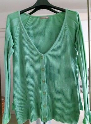 gilet vert effet côtelé coton délavé coton Large