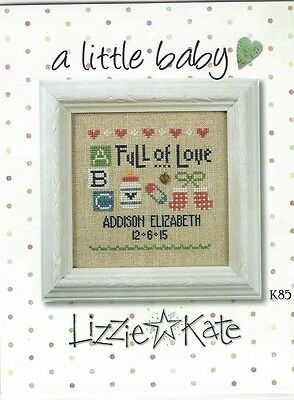 A Little Baby Cross Stitch Kit by Lizzie Kate  Linen & Charm PRICE REDUCED