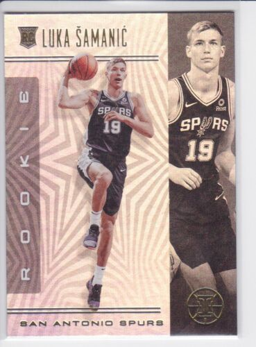 2019-20 PANINI ILLUSIONS SAN ANTONIO SPURS LUKA SAMANIC RC NO. 177