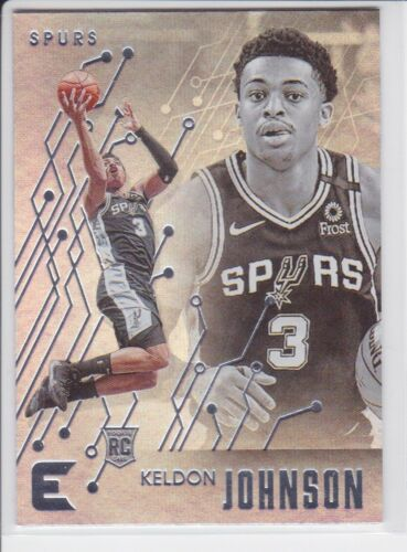 2019-20 PANINI CHRONICLES SAN ANTONIO SPURS KELDON JOHNSON ESSENTIALS RC NO. 213