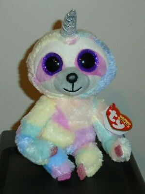 Ty Beanie Boos ~ COOPER the Unicorn Sloth Unisloth (6 Inch) 2019 NEW ~ IN HAND