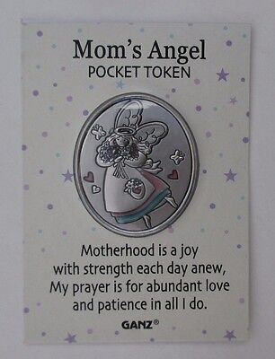 u Mom motherhood joy strength prayer love EVERYBODY'S ANGEL POCKET TOKEN charm