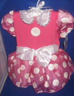 Disney Minnie Maus Baby Kind Mädchen Kostüm Kleid Größe 6-12 Months Neu