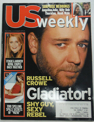 Us Weekly Magazine Russell Crowe   Tori Spelling May 2000 042715R