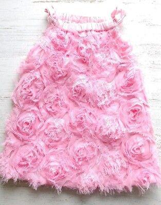 The Children's Place dress baby girl 6-9 months pink rosette eyelash fancy