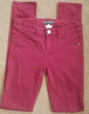 Billabong Women's Maroon Denim Skinny Peddler Jeans  Size 25