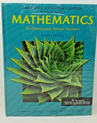 MATHEMATICS FOR ELEMENTARY SCHOOL TEACHERS 4th Ed Annotated Instructor's (Mathematics For Elementary School Teachers 4th Edition)