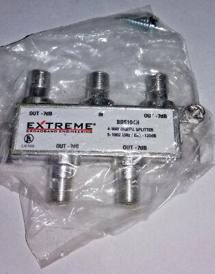 4 Way Balanced Splitter (Extreme 4-Way Balanced HD Digital Coax/Coaxial Cable Splitter)