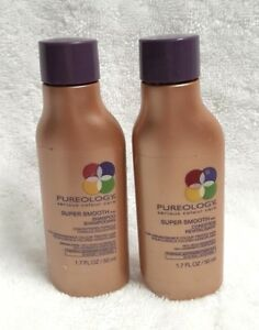 PUREOLOGY SUPER SMOOTH SHAMPOO & CONDITIONER 1.7 oz TRAVEL SIZE DUO/ FRESH & NEW