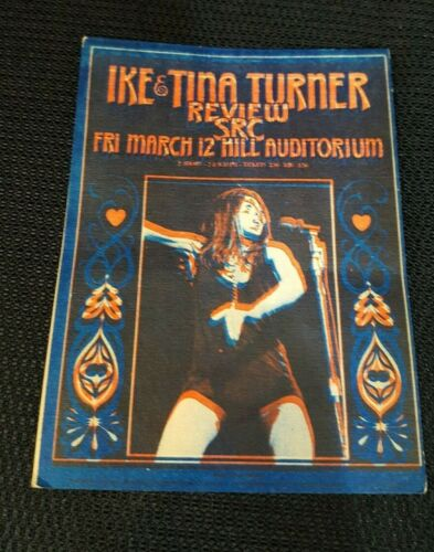 Vintage Ike And Tina Turner Concert Handbill, 1971, RARE!