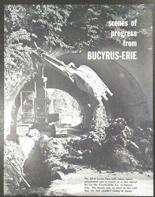 Bucyrus Erie 20-B Shovel Catalog Crane reprint Dragline prob 1950s