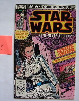 Star Wars comic book Marvel #65 C8   square box 70's 80's vintage 11/82    816
