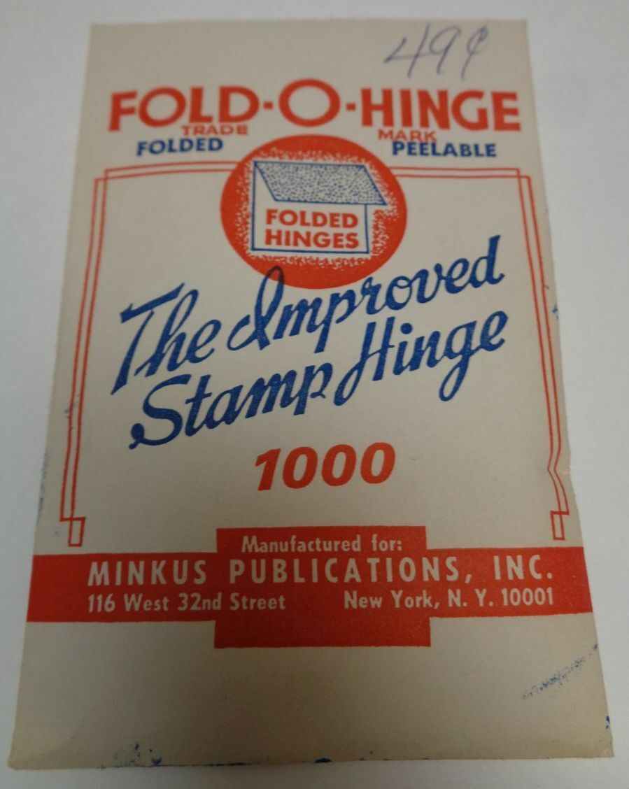 Fold-O-Hinges MINKUS Vintage Opened Pack Great Old Green Hinges Made In USA 20 G - $21.99