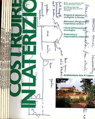 COSTRUIRE IN LATERIZIO n.31-34-35-36 del 1993