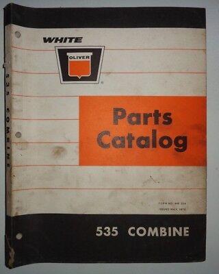 Oliver 535 Combine Parts Catalog Manual Book Original Dealers White Cockshutt