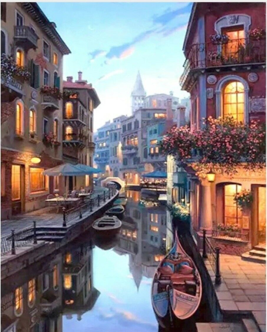 Gondola Night Van Go Paint By Number Kit Ebay