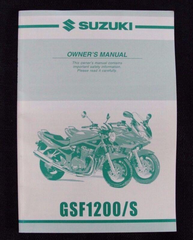 2000 2001 SUZUKI 1200 GSF1200 GSF1200S  MOTORCYCLE OWNER