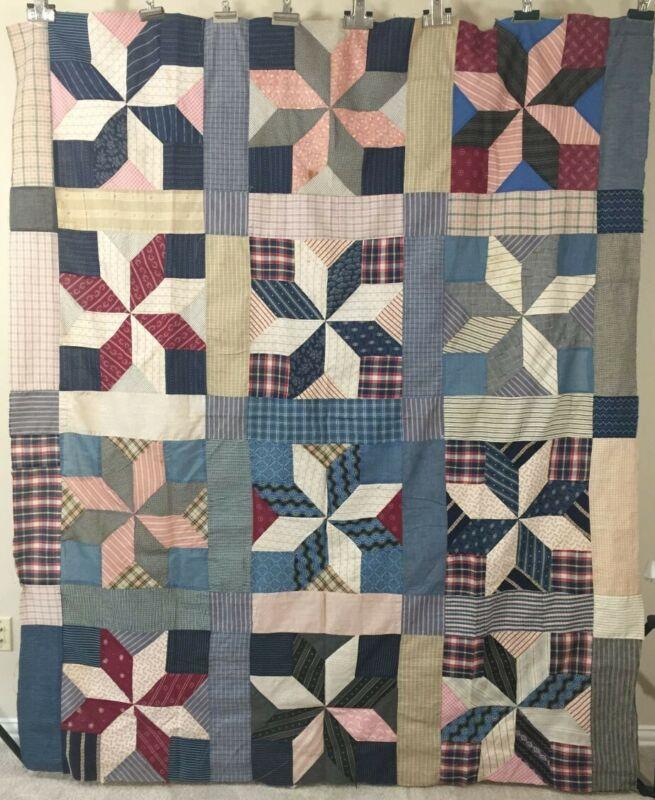 Antique Quilt Top 8-pointed Star/Blocks C1920