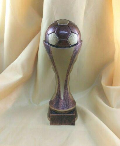 "9"" Soccer Trophy  Award. Free engraving."