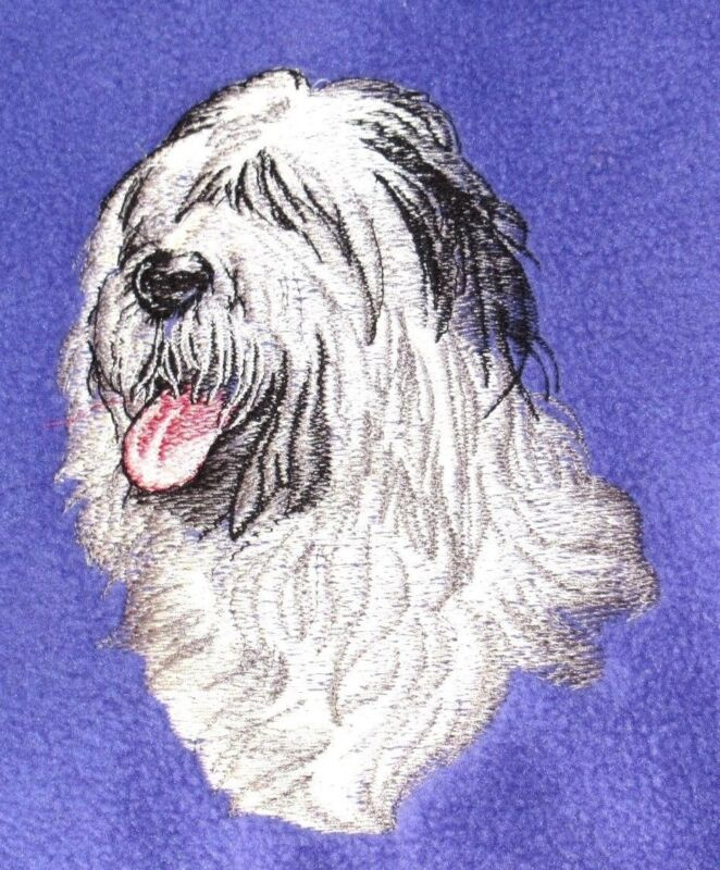 Embroidered Long-Sleeved T-Shirt - Old English Sheepdog BT2621