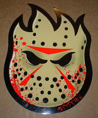 "SPITFIRE Mask Logo Skate Sticker 4.5 X 6"" great for skateboards helmets decal"