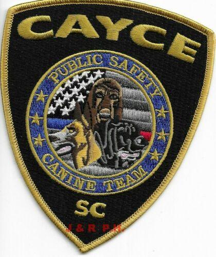 "Cayce Public Safety K-9 Canine Tm., SC (4"" x 4.75"") shoulder police patch (fire)"