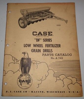 Case Df Series Low Wheel Fertilizer Grain Drill Parts Catalog Manual Original