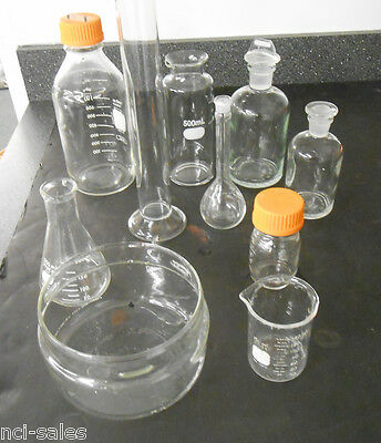 Lot Of 10 Pieces Of Assorted Lab Glassware