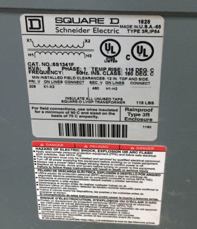 SQUARE D 5S1341F TRANSFORMER