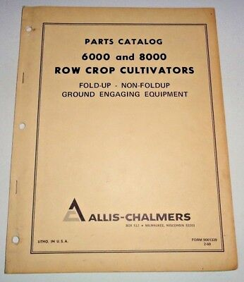 Allis Chalmers 6000 8000 Cultivator Parts Catalog Manual Book Original Ac