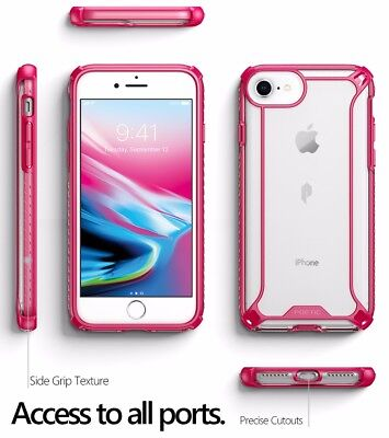 For Apple iPhone 8 Case Pink POETIC Affinity【Premium Thin】Shockproof TPU Case