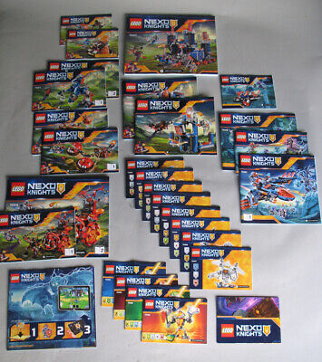 Lot of 29 Lego Nexo Knights Instructions Booklets Manuals & Poster ... See List