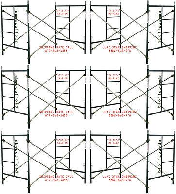 Six Set Of New 5 X 5 X 7 Masonry Scaffolding Frame Set Cbmscaffoldcom