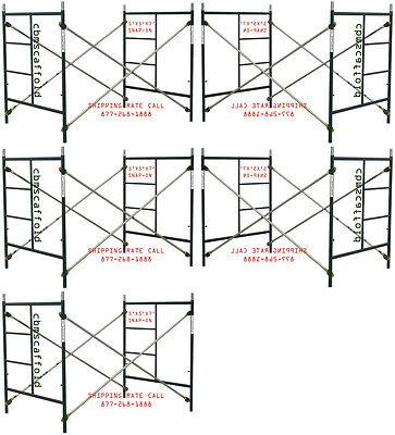 CBM Scaffold FIVE SET OF new Heavy Duty Masonry Scaffold Frame 5' X 5' X 7' Set