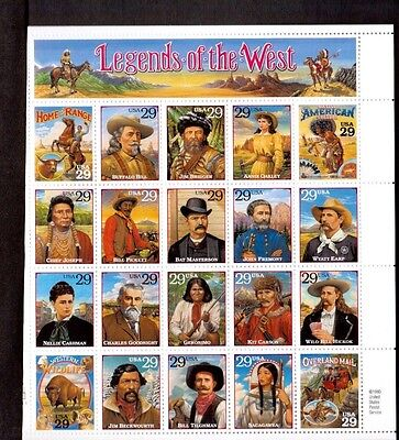 STAMPS  FULL SHEET # 2869 Legends of the West  29 cent MNH 1994