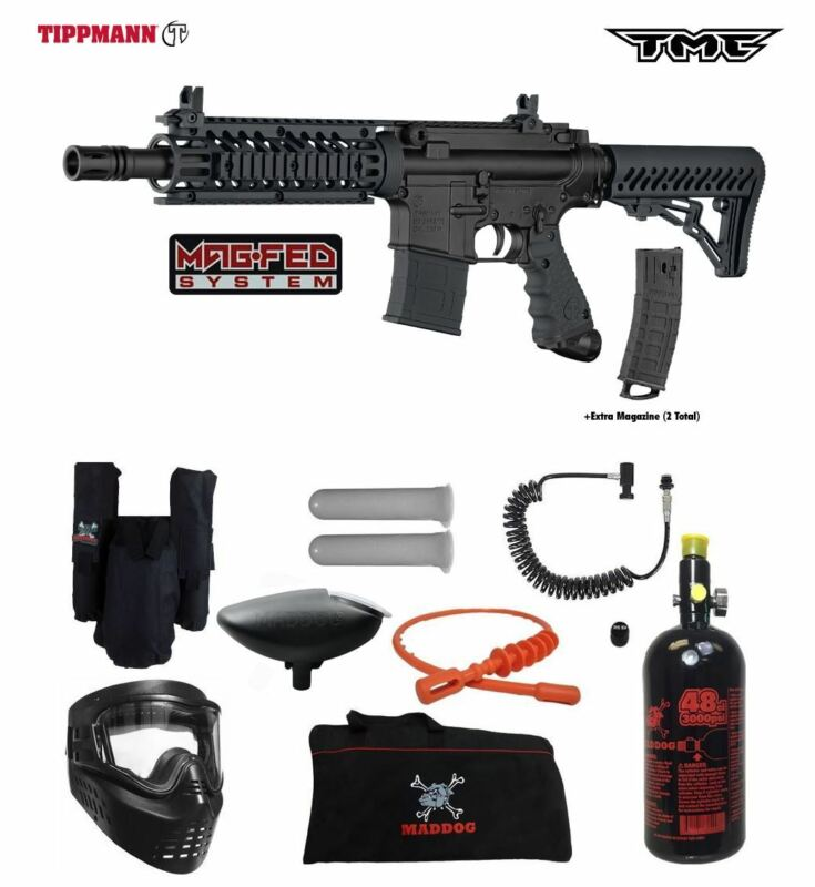 Tippmann Maddog TMC MAGFED Private HPA Paintball Gun Marker Package