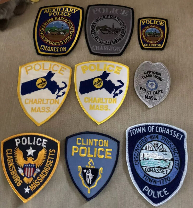 Massachusetts Police Patch Lot of 14 C's