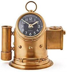 Pendulux Pilot Table Clock and Phone Holder Pen Caddy