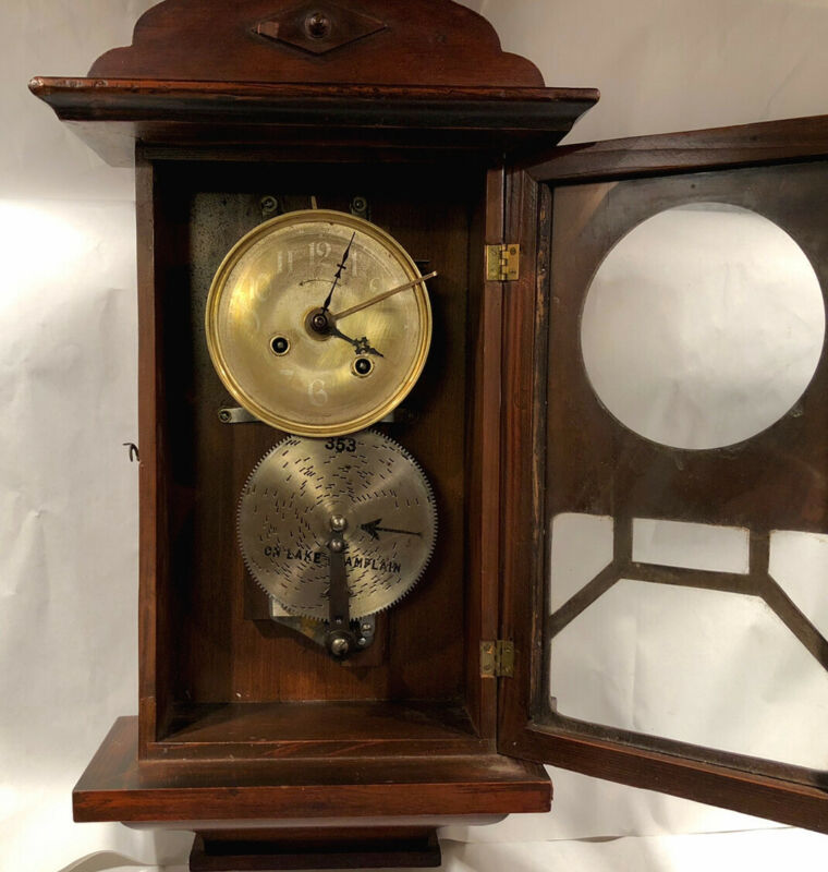 Rare Antique German Musical Polyphone Clock With Thorens Music Box