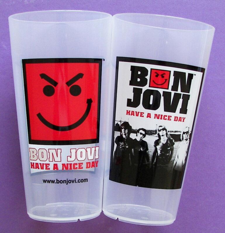 2x *NEW* Bon Jovi 2006 European HAND Tour CUP DRINKBEKER BECHER COPA