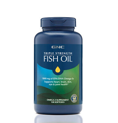 Gnc Triple Strength Fish Oil 120 Softgels